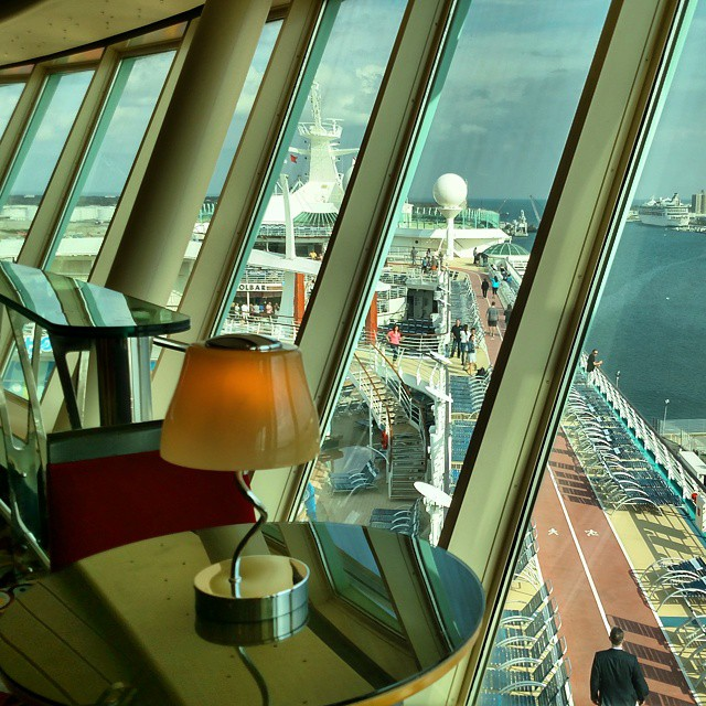 The view from one of my favorite lounges onboard @royalcaribbean