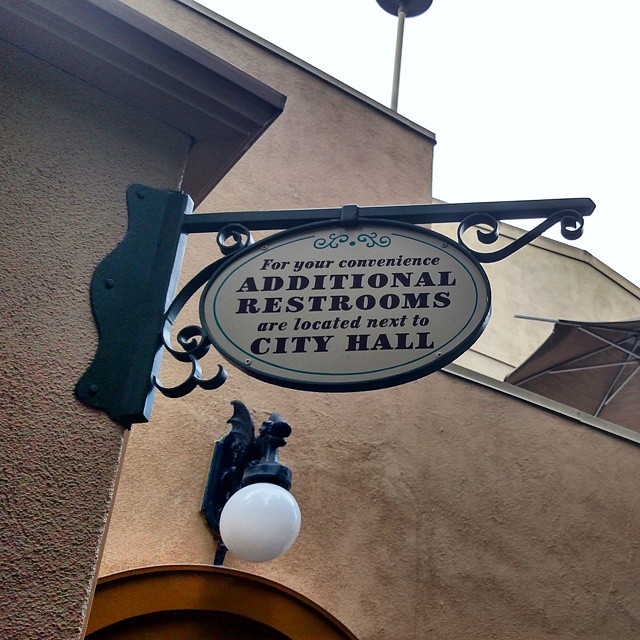 Breaking news.. Lines for BOTH the Ladies & Men's rooms at Disneyland #aFirst!